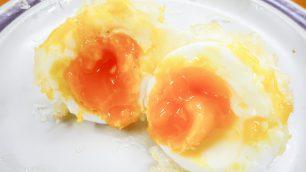竹清の半熟卵の天ぷら