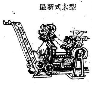 広告にあったミヤヂ式大型製麺機のイラスト