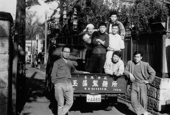 玉藻製麺所で記念撮影